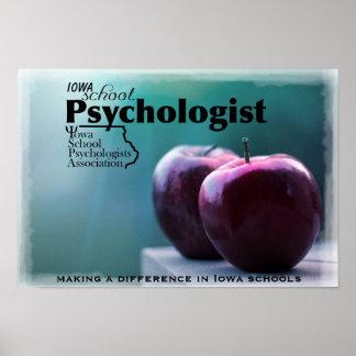 Affiche de bureau de psychologue d'école de l'Iowa Poster