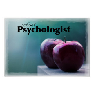 Affiche de bureau de psychologue d'école poster