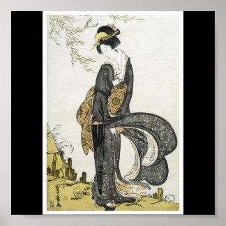 Affiche de C. de peinture japonais 1805