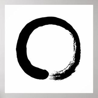 Affiche de calligraphie de zen de cercle d'Enso Posters