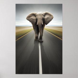 Affiche de camionneur d'éléphant poster
