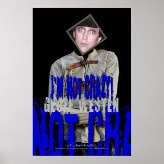 Affiche de camisole de force de Geoff Westen