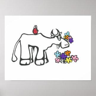 Affiche de casse-croûte de fleur