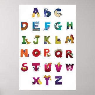Affiche de chats d'alphabet de Grotke
