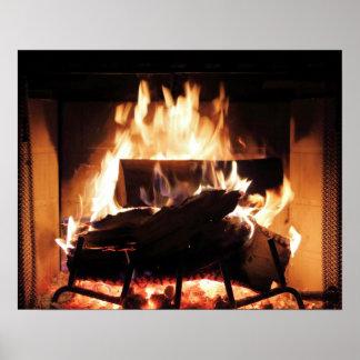 Affiche de cheminée