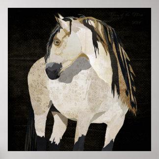 Affiche de cheval blanc