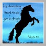 affiche de cheval de 4h13 de Philippiens de vers d