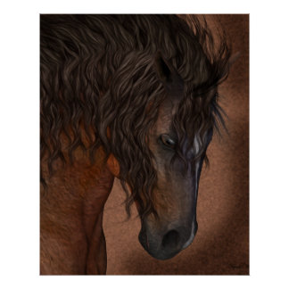 Affiche de cheval - rêve équin
