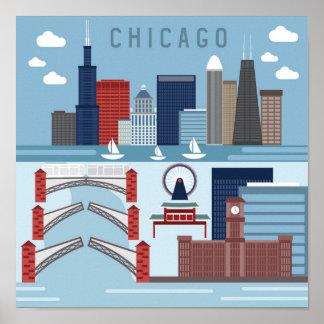 Affiche de Chicago l'Illinois Poster