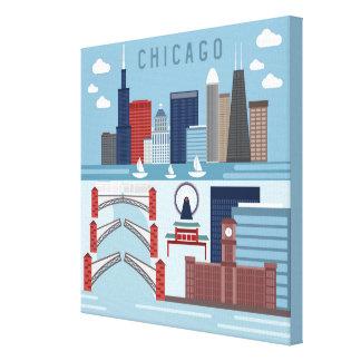 Affiche de Chicago l'Illinois Toile