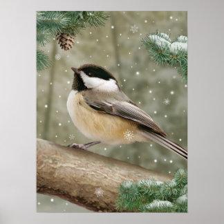 "Affiche de ""Chickadee d'hiver"" d'Alan Giana Posters"