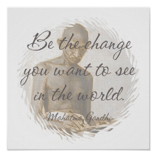 Affiche de citation de Mahatma Gandhi
