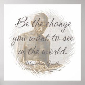 Affiche de citation de Mahatma Gandhi Posters