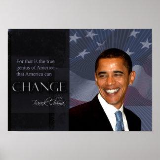 Affiche de citation d'Obama