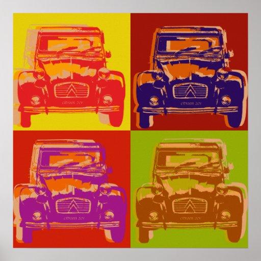 Affiche de Citroen 2cv