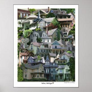 Affiche de collage Michigan salin