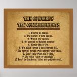 Affiche de commandements de la cow-girl 10