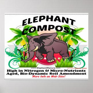 Affiche de compost d'éléphant poster