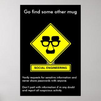 Affiche de conscience de sécurité d'ingénierie soc