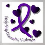 Affiche de conscience de violence familiale