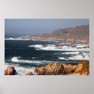 Affiche de côte de la Californie