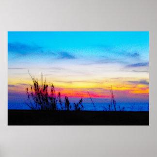 Affiche de coucher du soleil de margarita poster