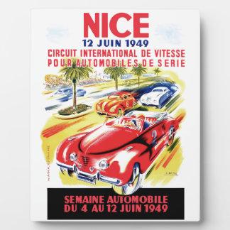 Affiche de course d'automobile de circuit de 1949 plaque photo