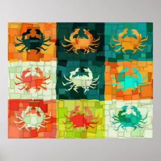 Affiche de cubisme de crabe d'art de bruit posters