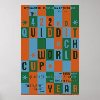 Affiche de damier de coupe du monde de QUIDDITCH™ Poster