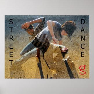 Affiche de danse de rue de moi suis habillement de