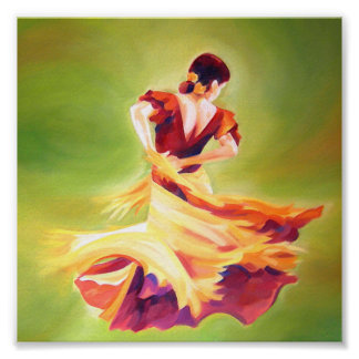 Affiche de danseur de flamenco