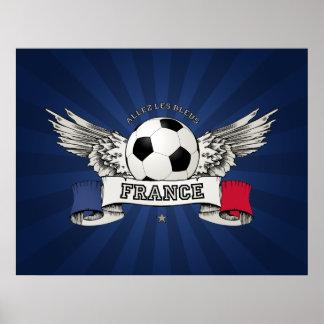 Affiche de défenseur d équipe nationale du footbal