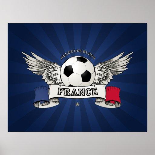 Affiche de défenseur d'équipe nationale du footbal