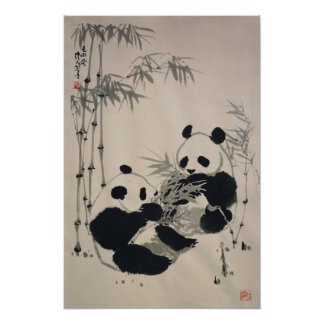 Affiche de deux pandas posters