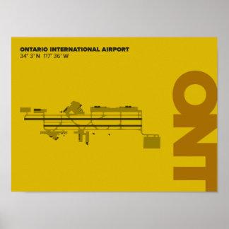 Affiche de diagramme de l'aéroport d'Ontario