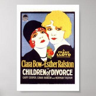 Affiche de divorce d'enfants de Clara Bow Esther R