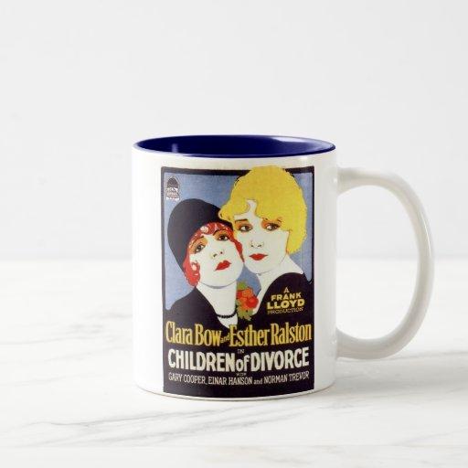 Affiche de divorce d'enfants de Clara Bow Esther R Tasses À Café