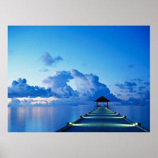 Affiche de dock de pair d'océan poster