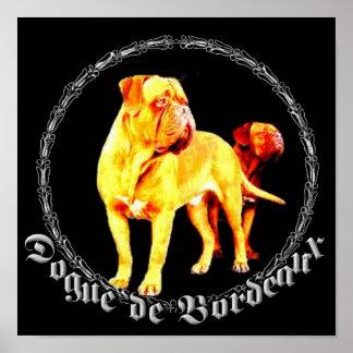 Affiche de Dogue de Bordeaux