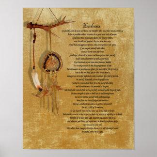 Affiche de dreamcatch de desiderata poster