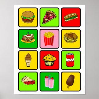 Affiche de drogué d'aliments de préparation rapide