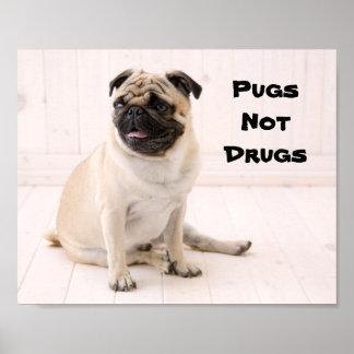 Affiche de drogues de carlins pas
