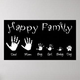 """Affiche """"de famille heureuse"""""""