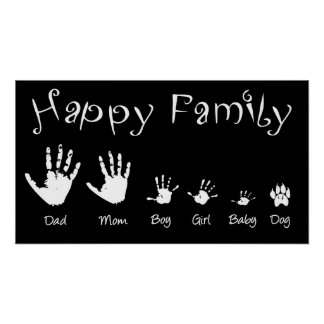 Affiche de famille heureuse
