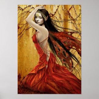 Affiche de fée d automne