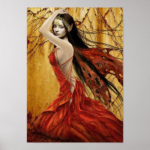 Affiche de fée d'automne
