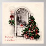 Affiche de fenêtre de Noël