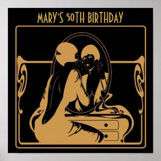 affiche de fête d'anniversaire des années 1920 posters