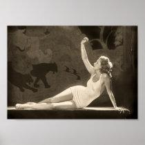 Affiche de fille de Zeigfeld d'art déco