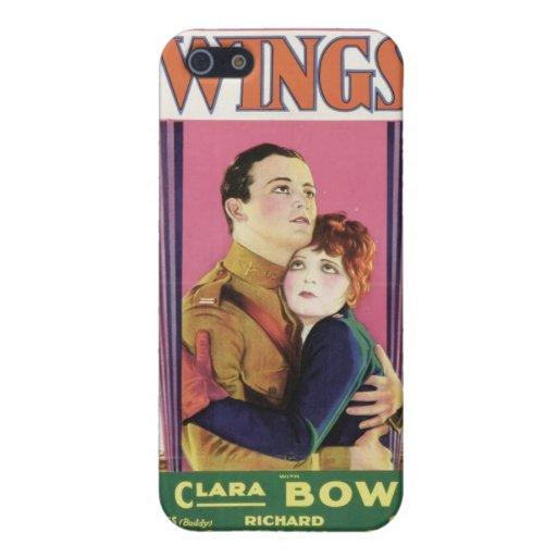 Affiche de film d'AILES de Clara Bow iPhone 5 Case